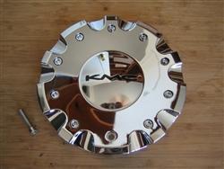 1086l185 Kmc 658 Strike Chrome Wheel Rim Center Cap S708 22