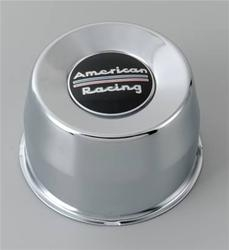 American Racing Chromed Steel Push Thru Center Cap Black