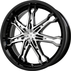 Verde Wheels V29 Calibre Black And Machined Center Cap C