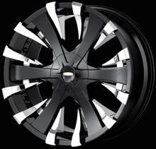 Baccarat Outrage Black Wheel Rim Center Cap C21602B MCD8244YA03 SJ107-10